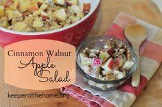 Cinnamon Walnut Apple Salad {KeeperOfTheHome.org}