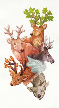 ArtStation - The Deer of Seasons, Catarina Pulli