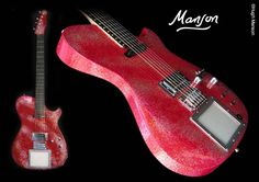 """Matt Bellamy's Manson Guitar """"Santa"""", """"the Glitteratti"""", rumored deceased...and I witnessed LIVE one episode of infamous throws that may have led to its fabled demise! ;)"""