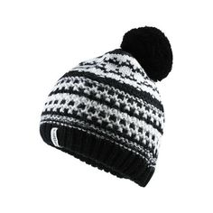 e211f3e855f22 Superdry Nordic Pattern Bobble Hat ( 12) ❤ liked on Polyvore featuring  accessories