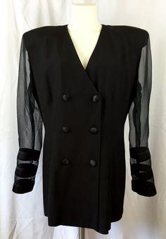 JOSEPH RIBKOFF Black Evening Cocktail Jacket Blazer sheer sleeves Size US/Can 14  | eBay Fashion Deals, Evening Cocktail, Blazer Jacket, Coat, Jeans, Joseph, Sleeves, Jackets