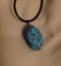 Free Ship! Turquoise Stone Choker necklace Wiccan Wicca Balance Calming