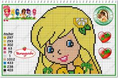 Strawberry Shortcake - Lemon Meringue - cross stitch/perler bead pattern by Carina Cassol