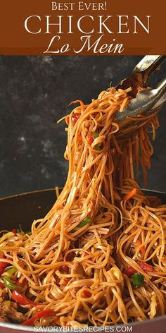 Better Than Takeout Chicken Lo Mein! - -Better Than Takeout Chicken Lo Mein! - -Better Than Takeout Chicken Lo Mein! Beef Recipes, Cooking Recipes, Healthy Recipes, Cooking Pasta, Healthy Food, Burger Recipes, Fish Recipes, Spicy Food Recipes, Recipies
