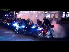 Motorbike Stunts - Night Riding [HD] - YouTube