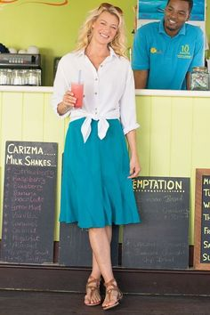 Soft and flirty, our Talais Skirt has sweet, swaying movement and a back elastic waistband.