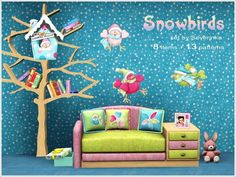 Snowbirds Kids Room by Severinka  http://www.thesimsresource.com/downloads/1183462