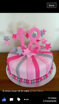 Pretty pink 18 th cake
