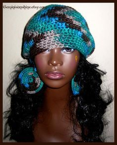 Image result for crochet hats and earrings
