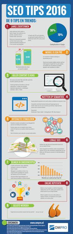 SEO tips 2016 infographic door Mark van Teul letterzaken