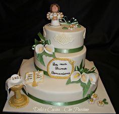 Torta Decorata In Pasta di Zucchero , stile THUN Chocolates, Boy Communion Cake, Angel Cake, Travel Party, Cake Designs, Fondant, Wedding Cakes, Desserts, Gaia