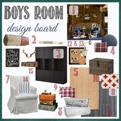 Boys Camp & Nautical Design Board | perfectly imperfect - Use this design board for family room