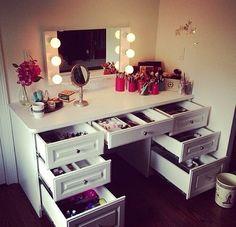 Where do you store your makeup?