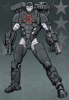 War Machine - Because I always thought, he was awesome. I mean, who doesn't like an Iron Man with more guns?