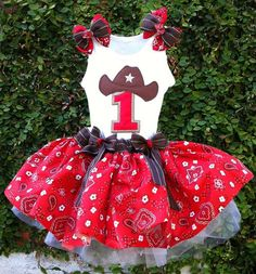 Cowgirl western tutu birthday dress by ChasenLondon on Etsy
