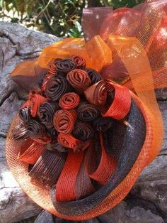 From 6 lg or 15 med putiputi upwards. Costs range from $95 upwards  (Pictured:  Orange/Brown $85 start price, 15 small puti) Flax Weaving, Flax Flowers, Maori Designs, Orange Brown, Flower Power, Floral Arrangements, Table Settings, Wall, Pictures