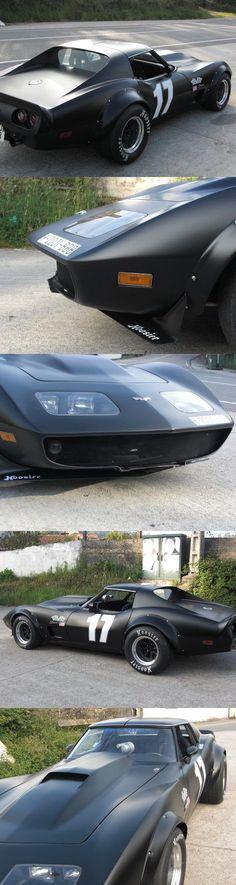 Corvette C3 en negro mate #chevroletcorvette1980