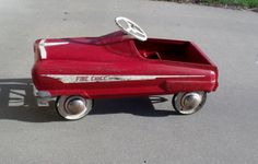 Garton Fire Chief pedal car  1950s  Original parts by wonderdiva, $275.00