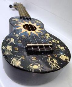 Beautiful ukulele with constellations!