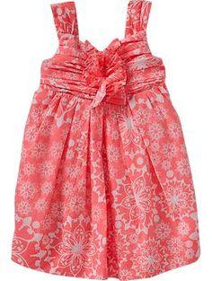 Floral-Print Poplin Dresses for Baby | Old Navy