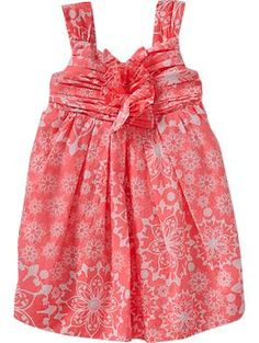 Floral-Print Poplin Dresses for Baby | Old Navy