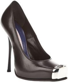 (The Number Two!) Gianmarco Lorenzi Black Square Toe Shoe