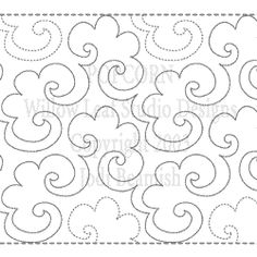 """Popcorn-SM - Paper - 6"""" - Quilts Complete - Continuous Line Quilting Patterns"""