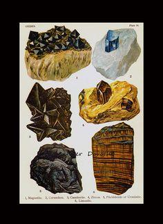 Magnestite Korund Kassiterit Zirkon Uranite von SurrenderDorothy
