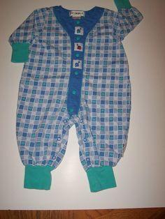 Boys GYMBOREE Crown Prints Romper Jumper Long Sleeve Everday Vintage NB 6 12 mo | eBay