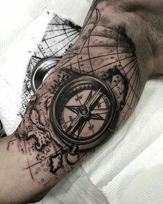 Inside Bicep Tattoo, Bicep Tattoo Men, Inner Bicep Tattoo, Forarm Tattoos, Dope Tattoos, Full Arm Tattoos, Arm Tattoos For Guys, Tattoo Sleeve Designs, Tattoo Designs Men