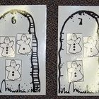 Print these cute Tombstones on grey granite paper.  Laminate and cut them out.  Students chose a tombstone to work with and place little ghosts on ...