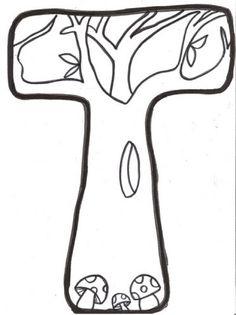 Cantinho do Primeiro Ciclo: Outono - Letras para pintar