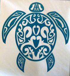 Vinyl Decal Tribal Sea Turtle Animal Sticker Choose Color Mirror Window Car  #10 #CraftieDecor