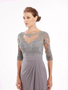 Evening dress grey quartzite