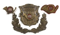 Officer's and Enlisted Man's Civil War Marine  Corps Hat Insignia, - Cowan's Auctions
