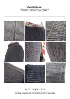 Gansey Pattern Scarborough Gansey | Hand Knitting | Wayside Flower - Wayside Flower