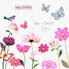 Image Result For Happy Birthday Garden Birds Butterflies Happy