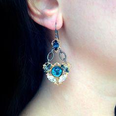 New Anton Heunis 'Tsarina' Small Crystal Cluster Hook Earrings (TS3 27)   Alexandra May