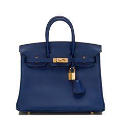 #Hermes #Birkin #Bag Blue Sapphire Swift Gold Hardware