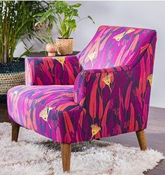 Shop for Justina Blakeney furniture & home decor at Living Spaces. Experience the colorful, bohemian world of the founder of the Jungalow® Orange Couch, Justina Blakeney, Interior And Exterior, Interior Design, Cozy Chair, Single Chair, Beautiful Space, Beautiful Things, Take A Seat
