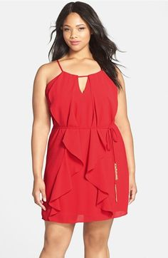 City Chic Waterfall Ruffle Sleeveless Tunic (Plus Size) available at #Nordstrom