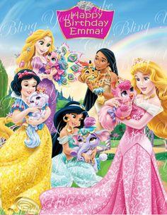 Disney Princess Palace Pets Edible Icing Sheet Cake Decor Topper - DPP2