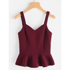 Princess Seam Lace Up Back Peplum Bustier Top ($18) ❤ liked on Polyvore featuring tops, burgundy, purple bustier, purple bustier top, peplum tops, peplum bustier and bustier tops