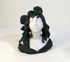 JAPANESE Art Nouveau Bust by KatsCache on Etsy, $49.95