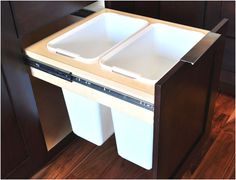 Pull-Out Waste Basket | Crystal Cabinets