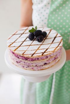 "confectionerybliss: ""Blackberry Swirl Marshmallow Gateau Source: Donal Skehan """