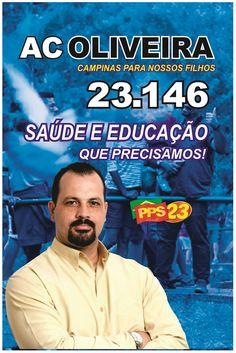 https://flic.kr/ps/3ftC3U | Galeria de Candidatos Vereador Campinas AC Oliveira 23146 PPS