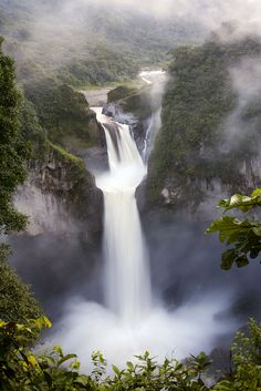 High up in the Amazon Basin, the San Rafael Falls in Ecuador pour into one of the Amazon's mountain tributaries. (Dr. Morley Read / Shutters...