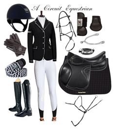 """""""black and white jumper show rootd"""" by a-circuit-equestrian on Polyvore featuring Ariat"""
