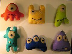 monstrinhos de feltro - chaveiro